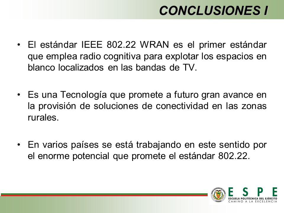 El estándar IEEE 802.22 WRAN es el primer estándar que emplea radio cognitiva para explotar los espacios en blanco localizados en las bandas de TV.