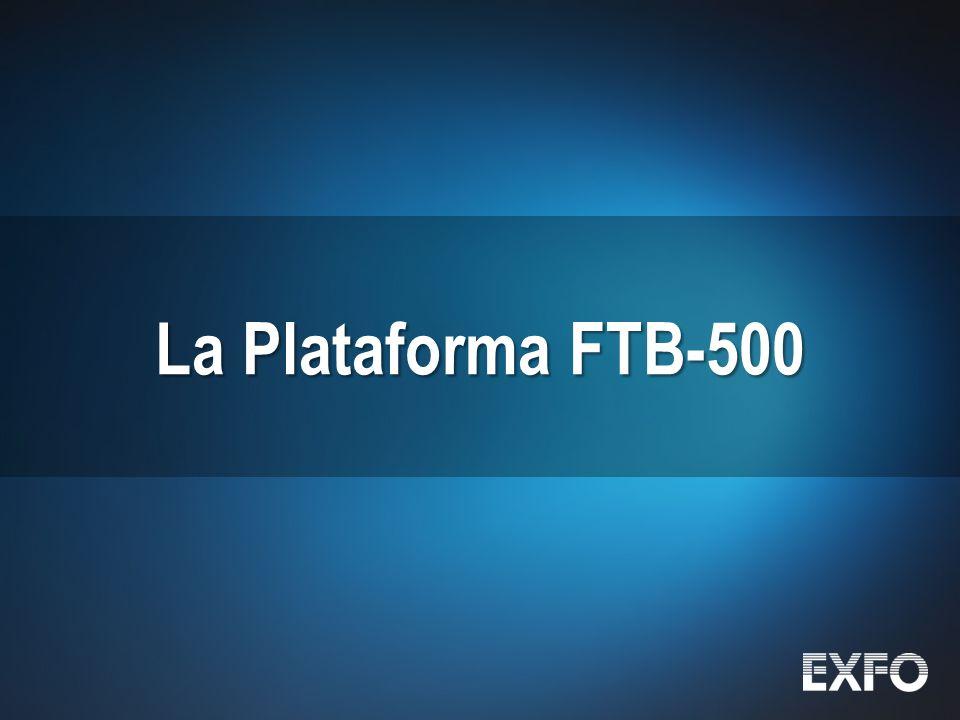 6 © 2010 EXFO Inc. All rights reserved. La Plataforma FTB-500