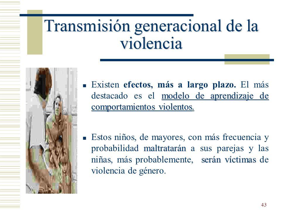 43 modelo de aprendizaje de comportamientos violentos Existen efectos, más a largo plazo. El más destacado es el modelo de aprendizaje de comportamien