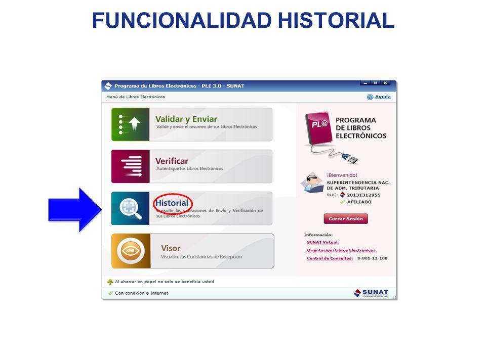 FUNCIONALIDAD HISTORIAL
