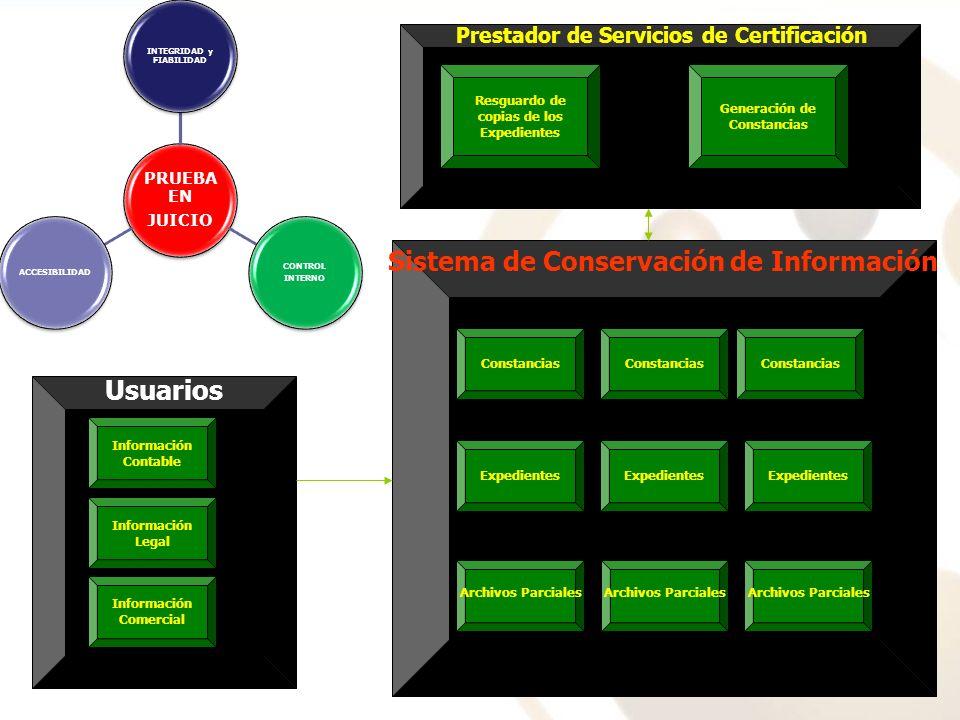 Información Contable Información Legal Información Comercial Usuarios Sistema de Conservación de Información Archivos Parciales Expedientes Constancia