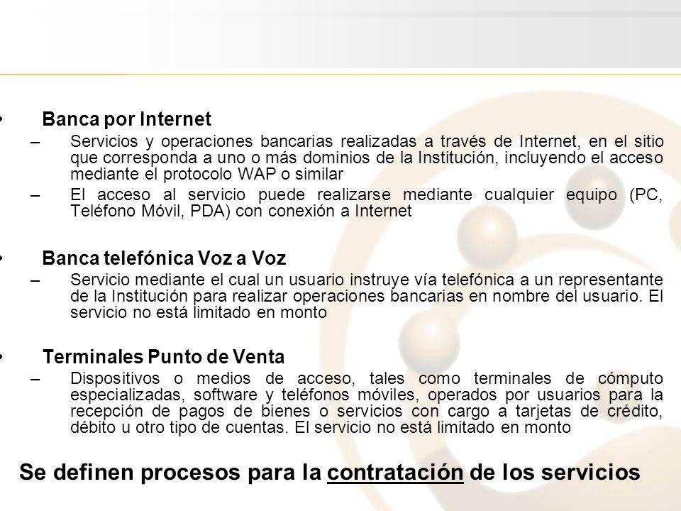 Banca por Internet –Servicios y operaciones bancarias realizadas a través de Internet, en el sitio que corresponda a uno o más dominios de la Instituc