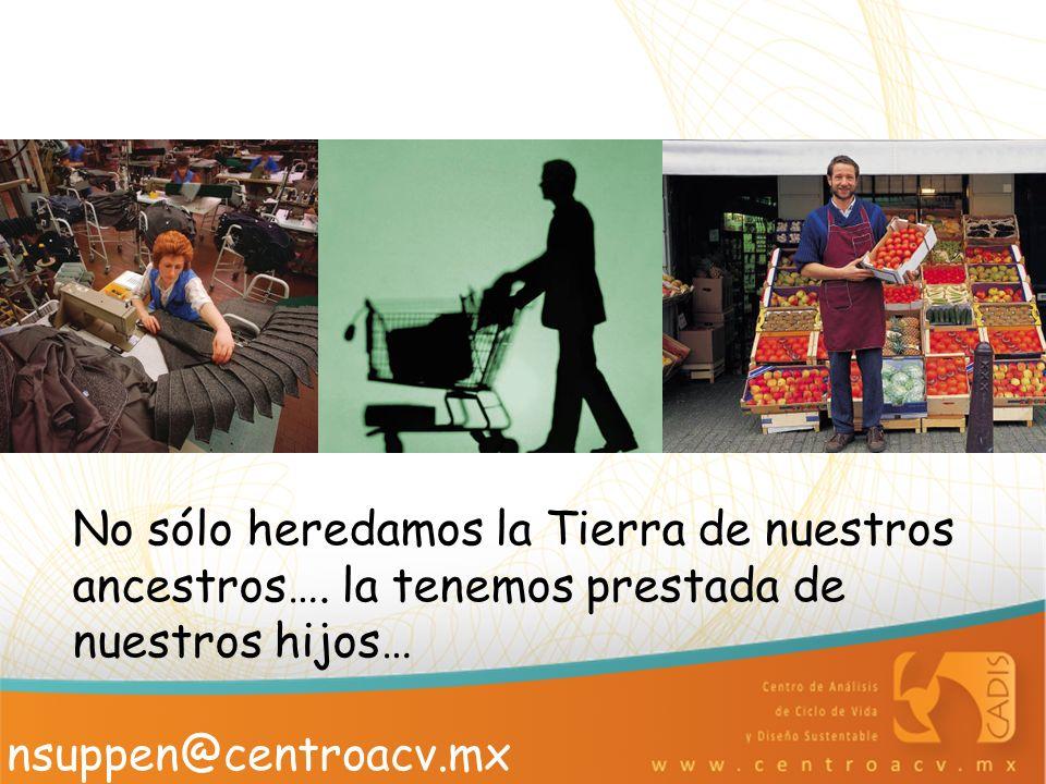 No sólo heredamos la Tierra de nuestros ancestros…. la tenemos prestada de nuestros hijos… nsuppen@centroacv.mx