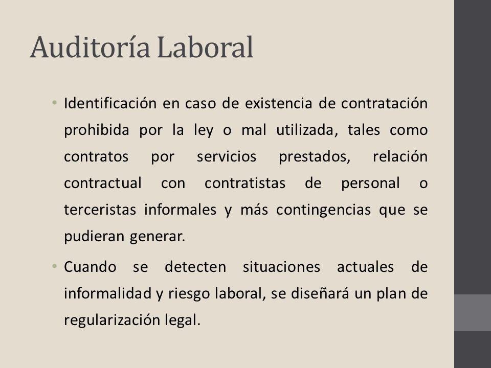 Identificación en caso de existencia de contratación prohibida por la ley o mal utilizada, tales como contratos por servicios prestados, relación cont