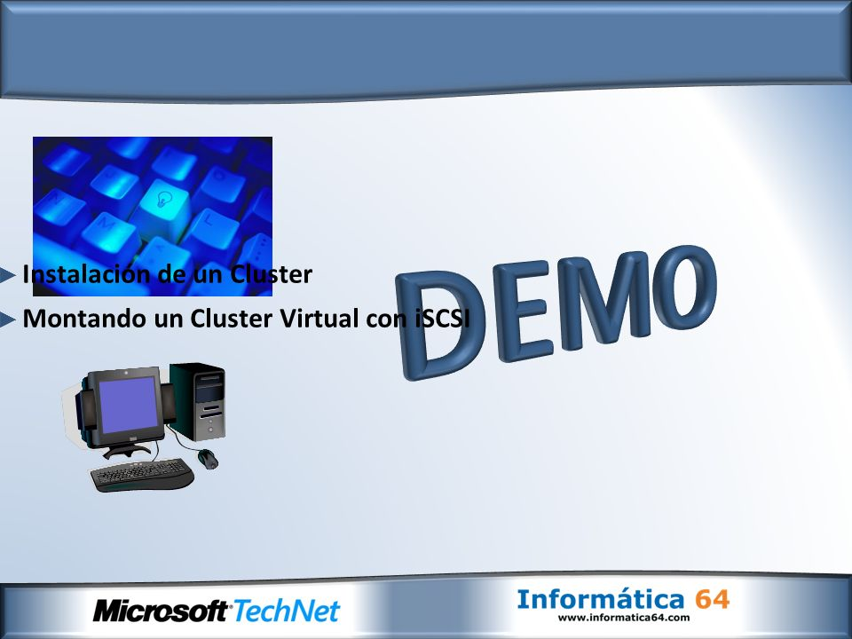 Instalación de un Cluster Montando un Cluster Virtual con iSCSI