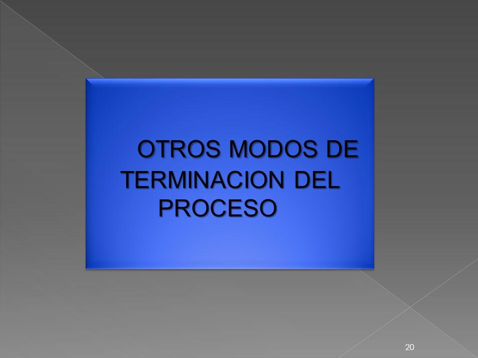 20 OTROS MODOS DE TERMINACION DEL PROCESO