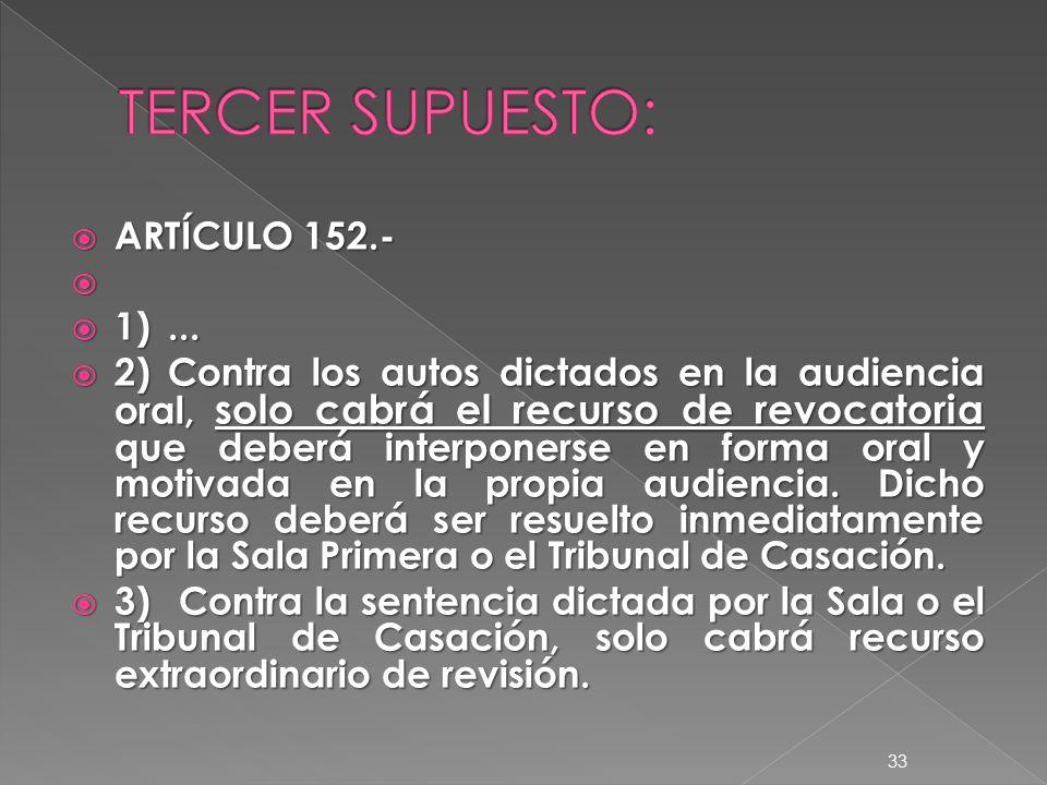 ARTÍCULO 152.- ARTÍCULO 152.- 1)... 1)...