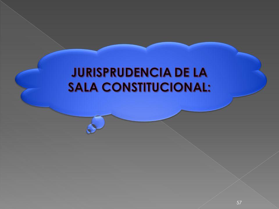 SALA CONSTITUCIONAL 1) VÍA DE HECHO: CARENCIA ABSOLUTA DE PROCEDIMIENTO.
