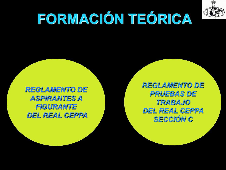 FORMACIÓN TEÓRICA REGLAMENTO DE ASPIRANTES A FIGURANTE DEL REAL CEPPA DEL REAL CEPPA REGLAMENTO DE PRUEBAS DE TRABAJO DEL REAL CEPPA SECCIÓN C