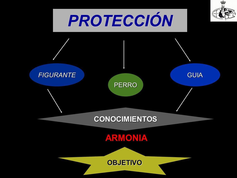 PROTECCIÓN FIGURANTE PERRO GUIA CONOCIMIENTOS ARMONIA OBJETIVO