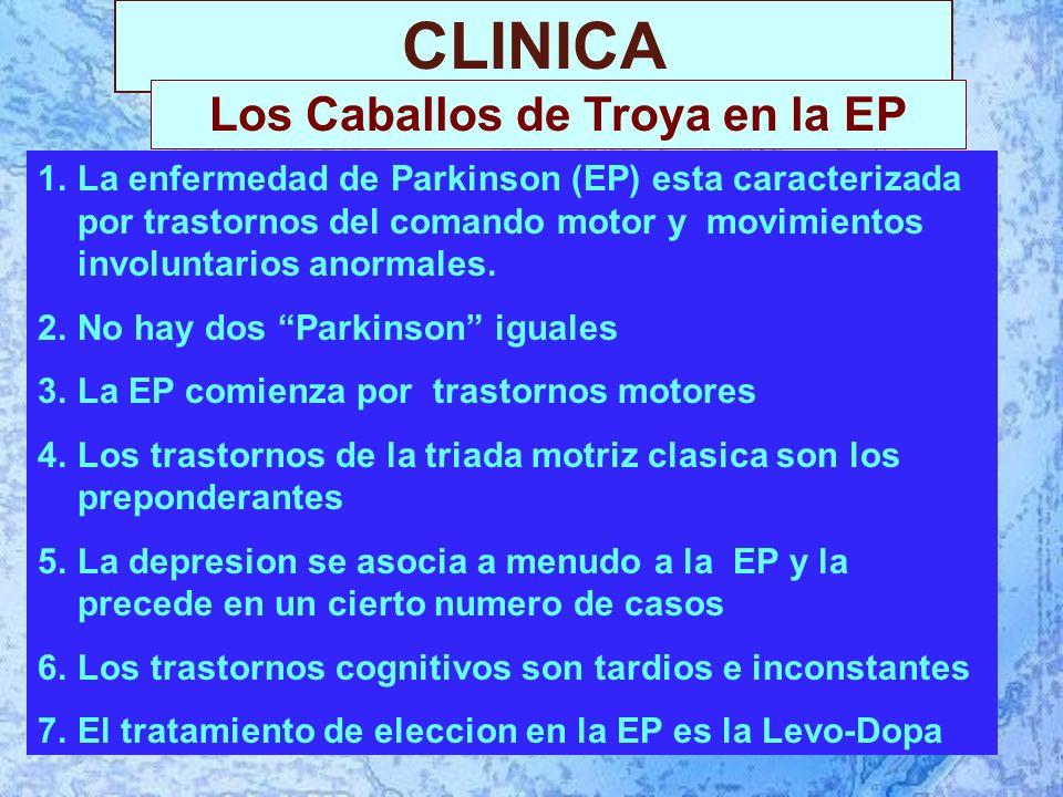 CLINICA 1.La enfermedad de Parkinson (EP) esta caracterizada por trastornos del comando motor y movimientos involuntarios anormales.