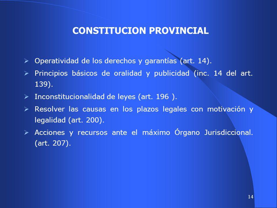 13 FUENTES CONSULTADAS FUENTES CONSULTADAS (2) 7.LA TEORIA CONSTITUCIONAL RIONEGRINA. 8.NORMAS PROCESALES DEL FUERO DE FAMILIA (LEY 3934). 9.MEDIACION