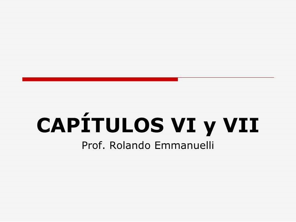 CAPÍTULOS VI y VII Prof. Rolando Emmanuelli