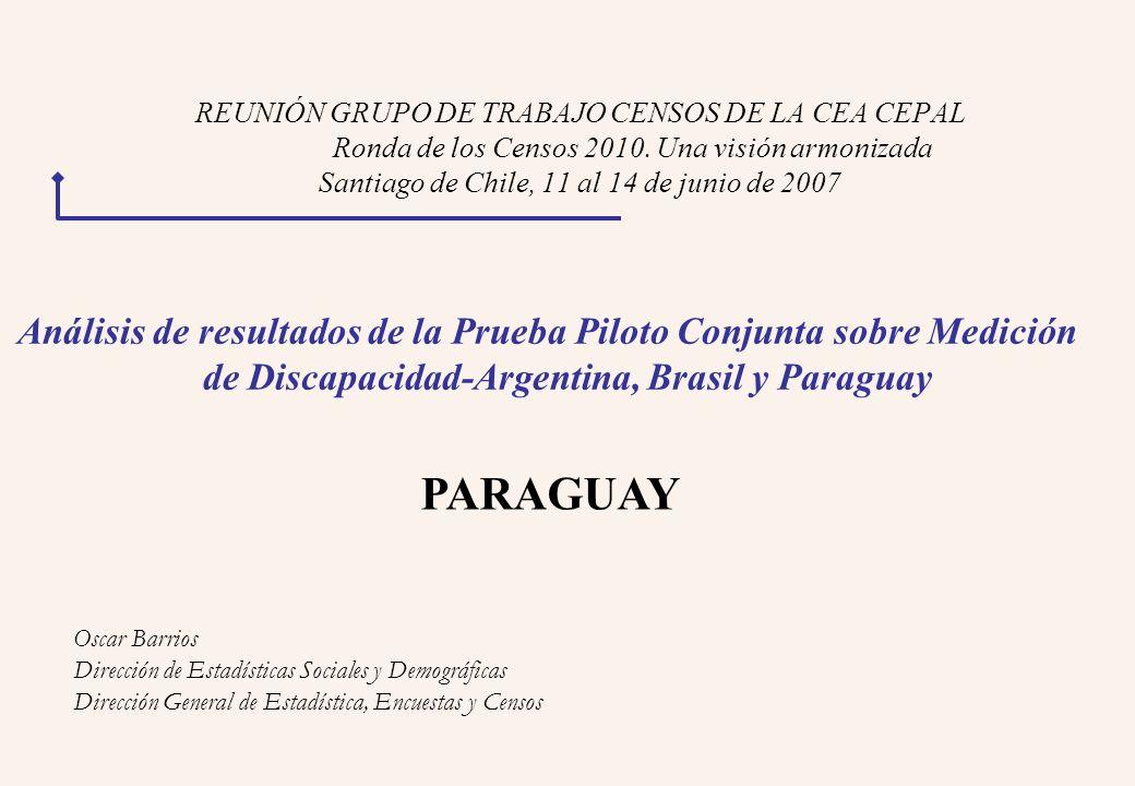 REUNIÓN GRUPO DE TRABAJO CENSOS DE LA CEA CEPAL Ronda de los Censos 2010.
