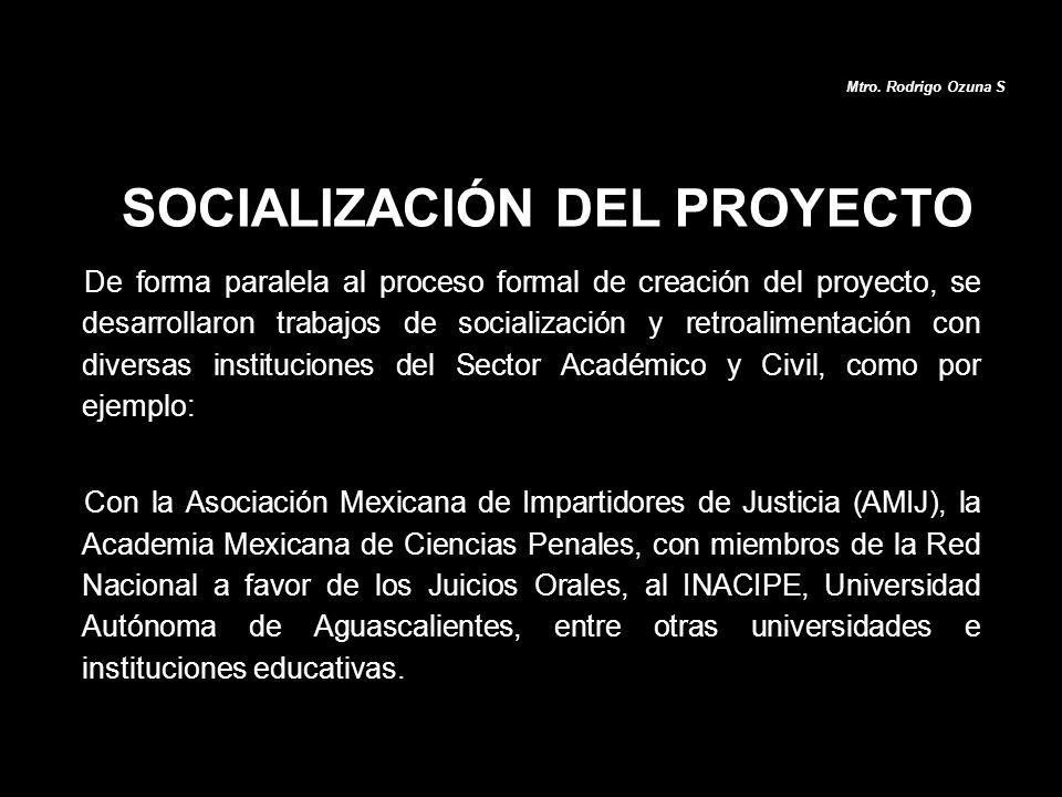 De forma paralela al proceso formal de creación del proyecto, se desarrollaron trabajos de socialización y retroalimentación con diversas institucione