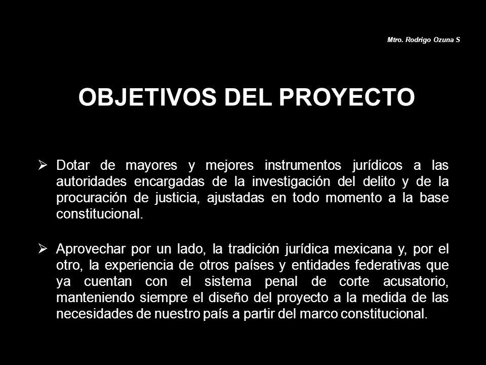 Dotar de mayores y mejores instrumentos jurídicos a las autoridades encargadas de la investigación del delito y de la procuración de justicia, ajustad