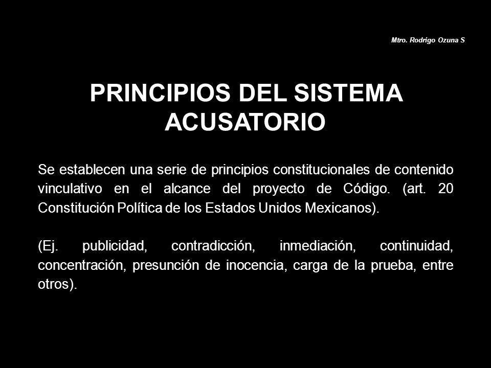 Se establecen una serie de principios constitucionales de contenido vinculativo en el alcance del proyecto de Código. (art. 20 Constitución Política d