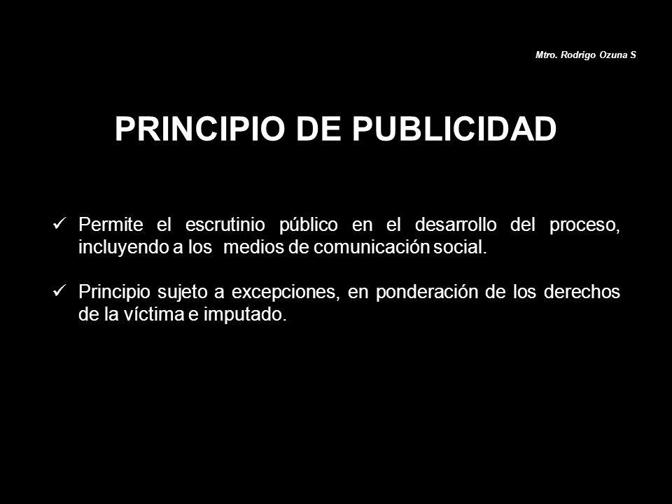 Permite el escrutinio público en el desarrollo del proceso, incluyendo a los medios de comunicación social. Principio sujeto a excepciones, en pondera