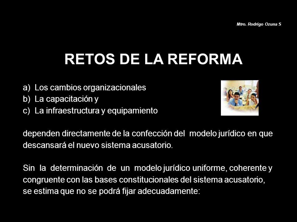 a)Los cambios organizacionales b)La capacitación y c)La infraestructura y equipamiento dependen directamente de la confección del modelo jurídico en q