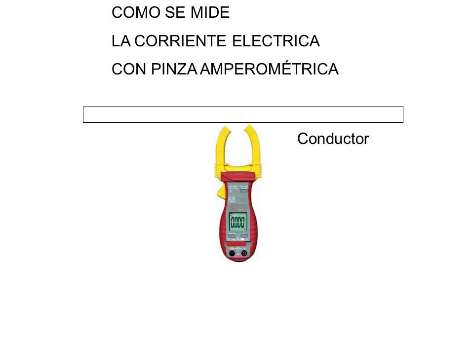 Conductor COMO SE MIDE LA CORRIENTE ELECTRICA CON PINZA AMPEROMÉTRICA