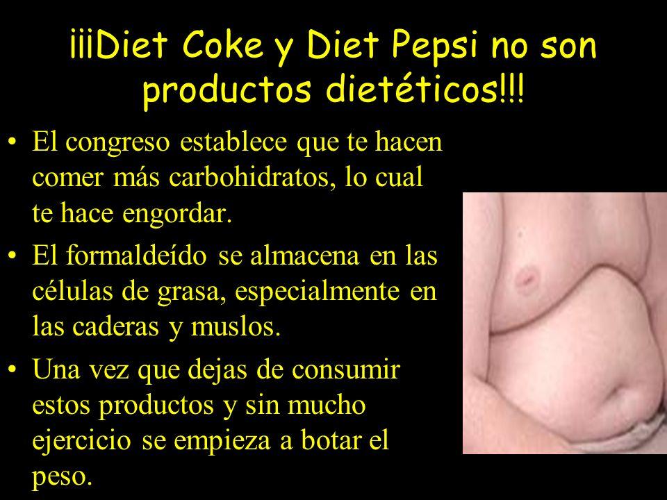 Si tiene algunos de estos síntomas, debe saber que ¡SON REVERSIBLES! Para ello: Evite tomar sodas de dieta y cuidado con el aspartame en los alimentos