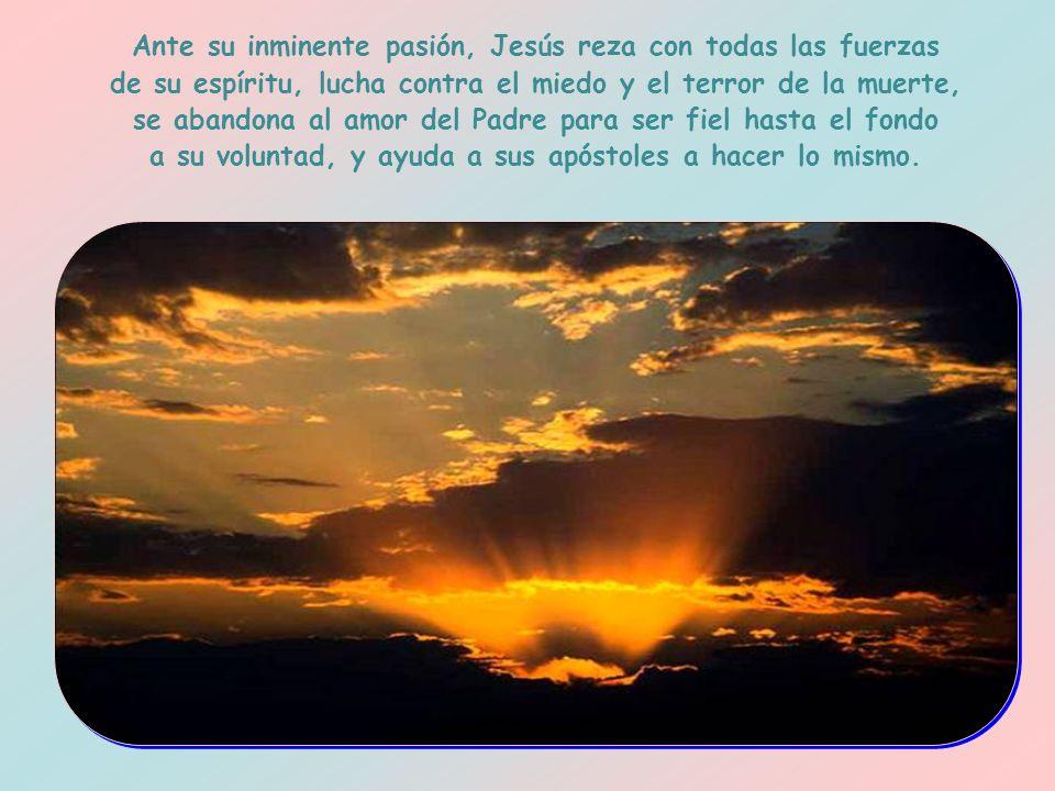 Estas palabras, leídas a la luz de las circunstancias en las que fueron pronunciadas, hay que verlas como un reflejo del estado de ánimo de Jesús más