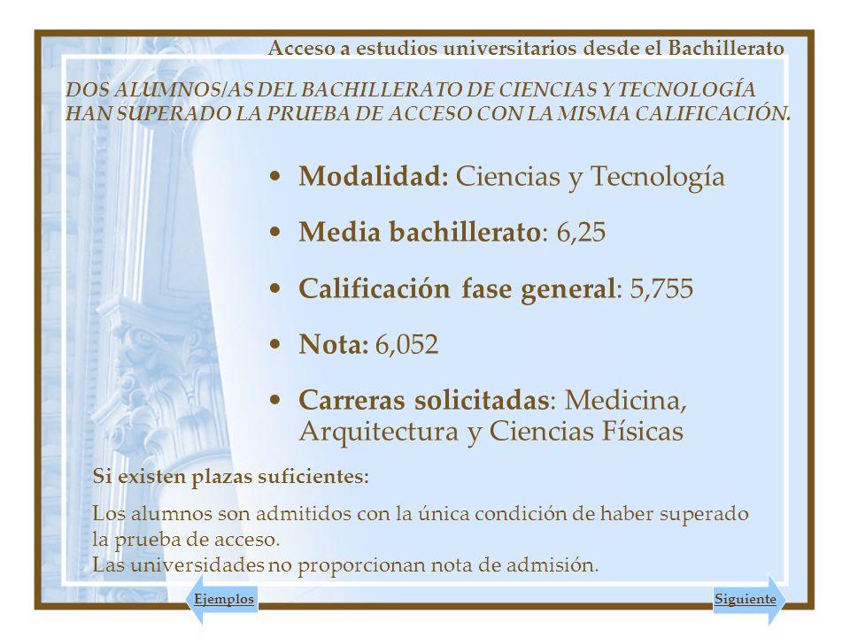 DOS ALUMNOS/AS DEL BACHILLERATO DE CIENCIAS Y TECNOLOGÍA HAN SUPERADO LA PRUEBA DE ACCESO CON LA MISMA CALIFICACIÓN.