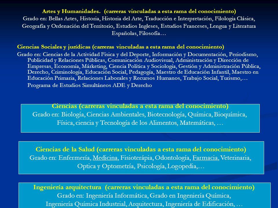 Artes y Humanidades.