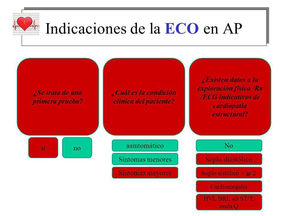 Indicaciones de la ECO en AP ¿Se trata de una primera prueba.