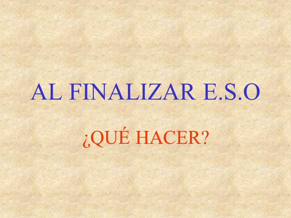 ACCESO DESDE BACHILLERATO A CICLOS FORMATIVOS DE GRADO SUPERIOR Administración y finanzas Humanidades y C.