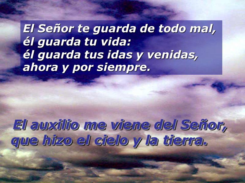 El auxilio me viene del Señor, que hizo el cielo y la tierra.