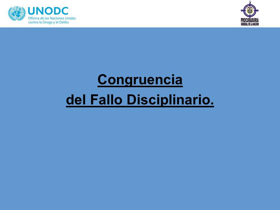 Congruencia del Fallo Disciplinario.