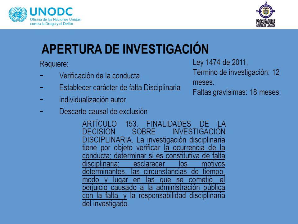 PRÓRROGA TÉRMINO DE INVESTIGACIÓN DISCIPLINARIA.