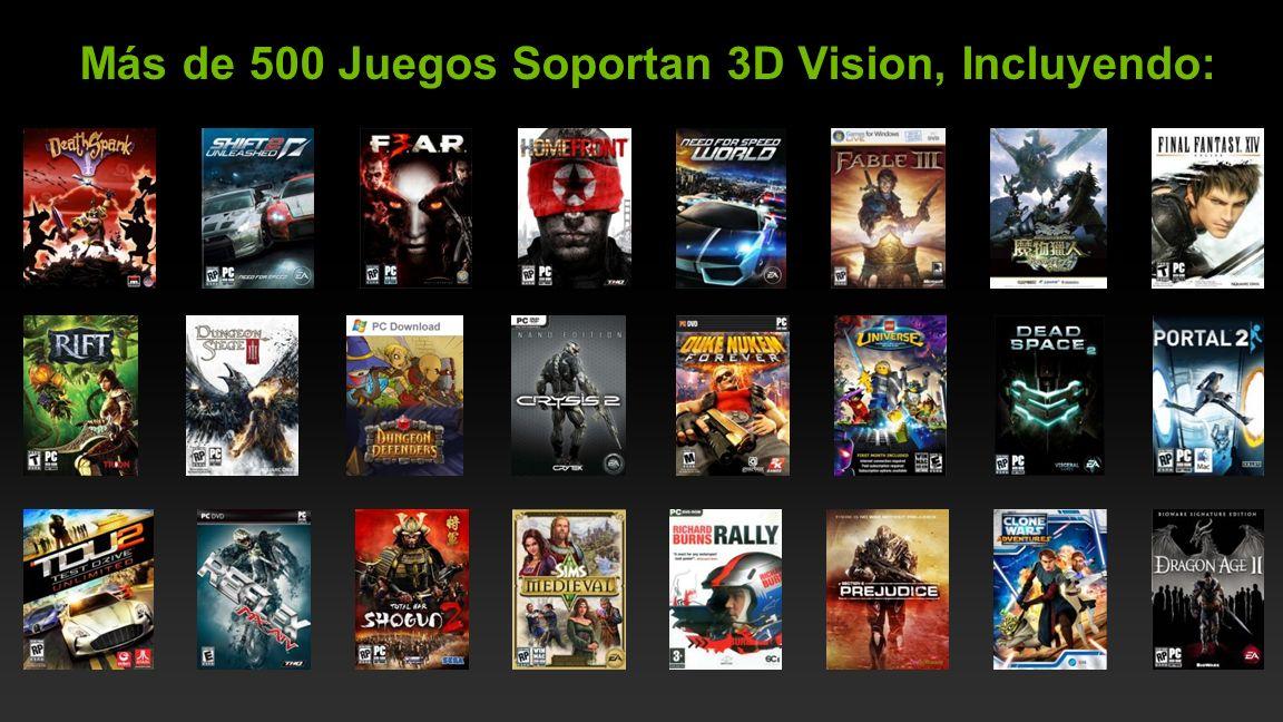 NVIDIA Confidential Más de 500 Juegos Soportan 3D Vision, Incluyendo:
