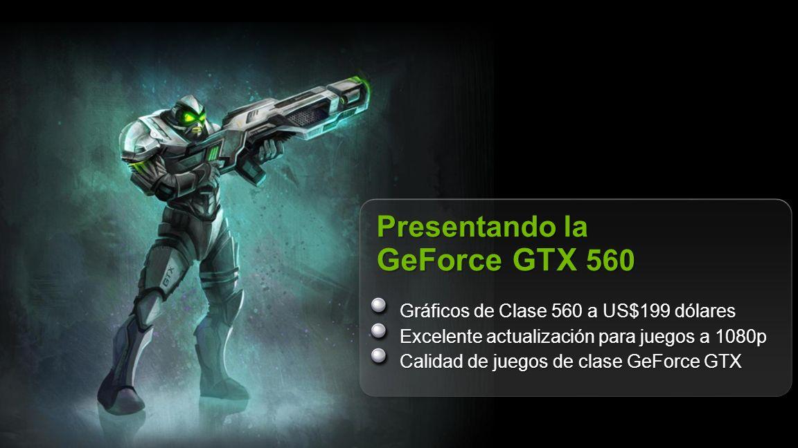© NVIDIA Confidential – Do Not Distribute 4 MayorConsumo MásRendimiento Comparado con GeForce GTX 460 768MB US$199 dólares – más Ideal que Nunca Métricas corridas a 19x10 4xAA, Core i7 3.2GHz, Win7 64-bit.