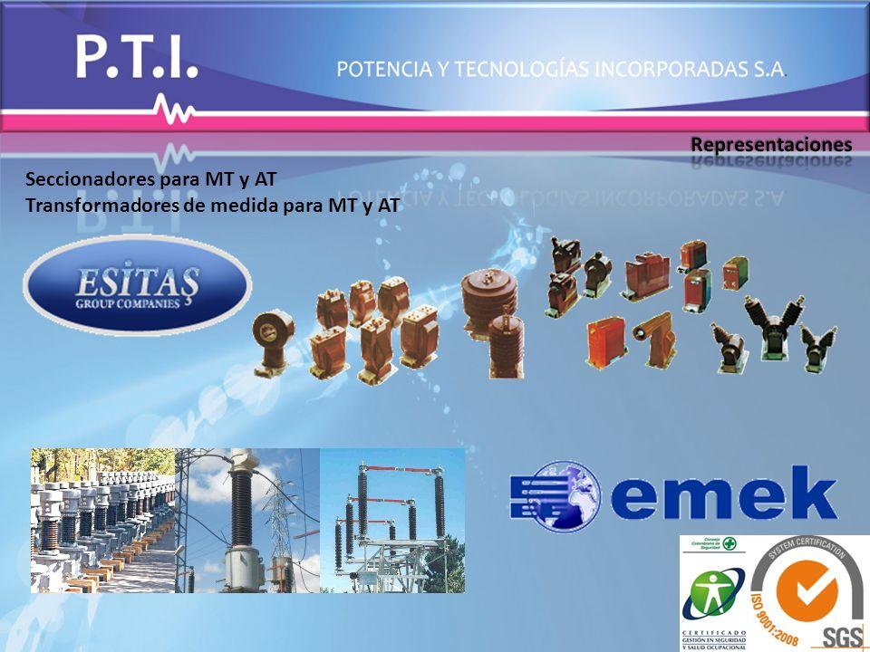 Seccionadores para MT y AT Transformadores de medida para MT y AT