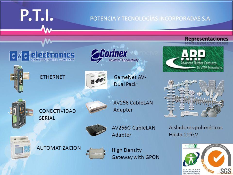 Aisladores poliméricos Hasta 115kV ETHERNET CONECTIVIDAD SERIAL AUTOMATIZACION High Density Gateway with GPON AV256G CableLAN Adapter AV256 CableLAN A
