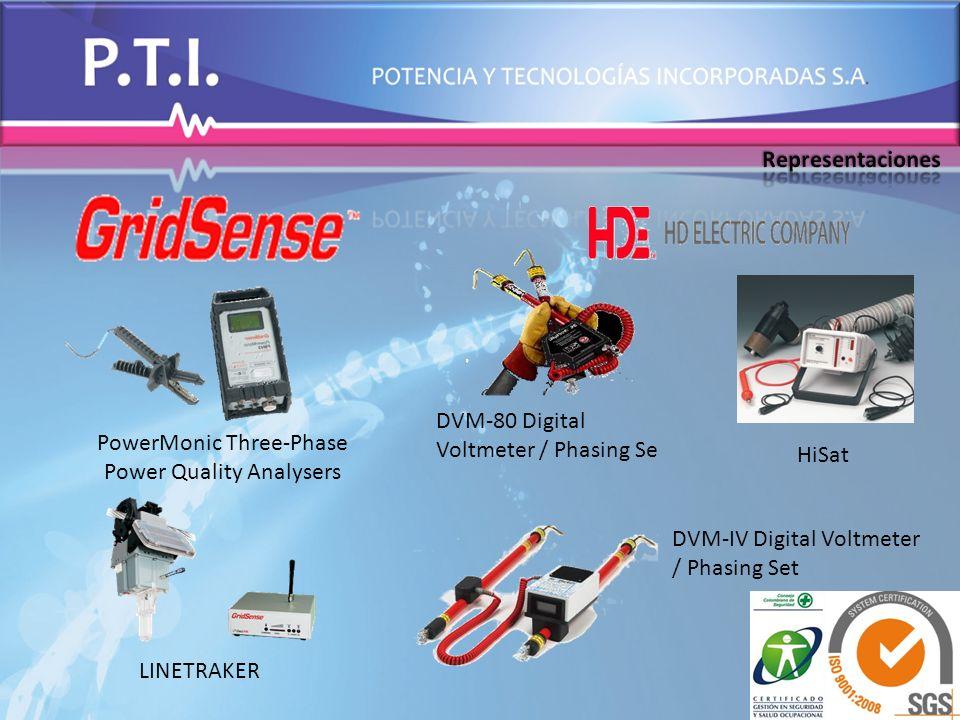 PowerMonic Three-Phase Power Quality Analysers LINETRAKER DVM-80 Digital Voltmeter / Phasing Se DVM-IV Digital Voltmeter / Phasing Set HiSat