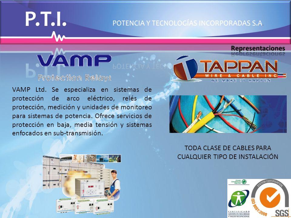 VAMP Ltd. Se especializa en sistemas de protección de arco eléctrico, relés de protección, medición y unidades de monitoreo para sistemas de potencia.