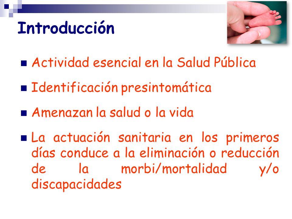 Introducción Actividad esencial en la Salud Pública Identificación presintomática Amenazan la salud o la vida La actuación sanitaria en los primeros d