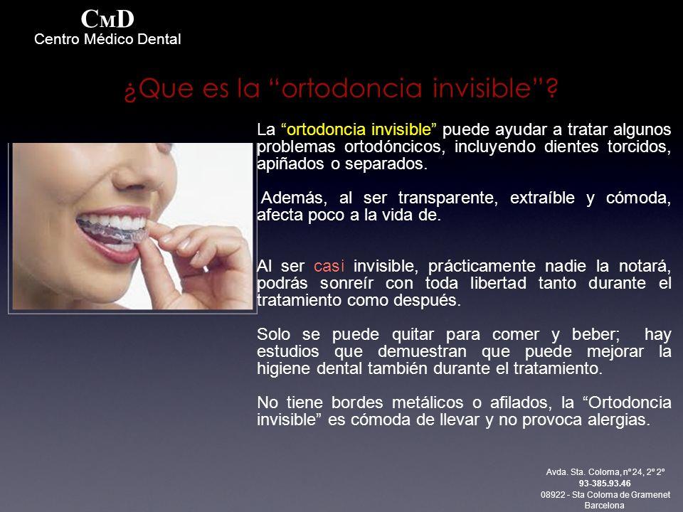 La ortodoncia invisible puede ayudar a tratar algunos problemas ortodóncicos, incluyendo dientes torcidos, apiñados o separados.