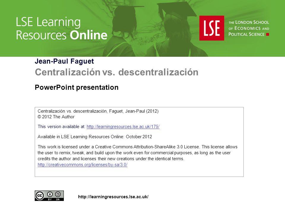 Centralización vs.