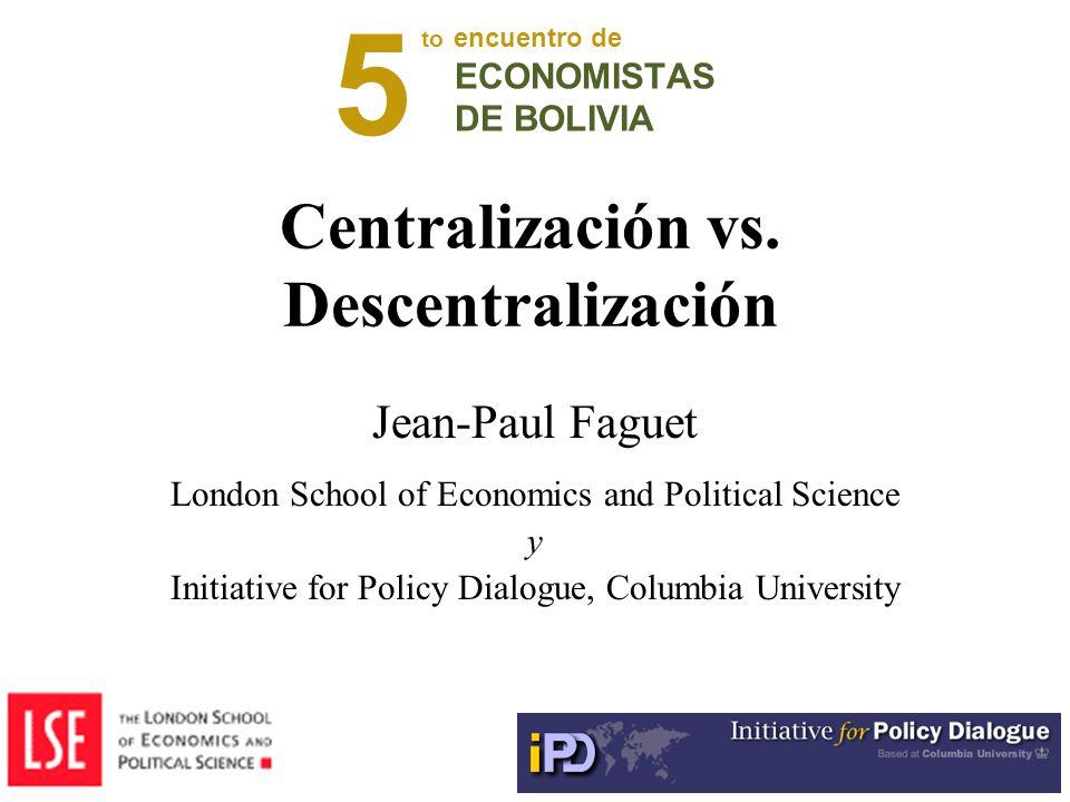 Plan 1.Teoría: Centralización vs.