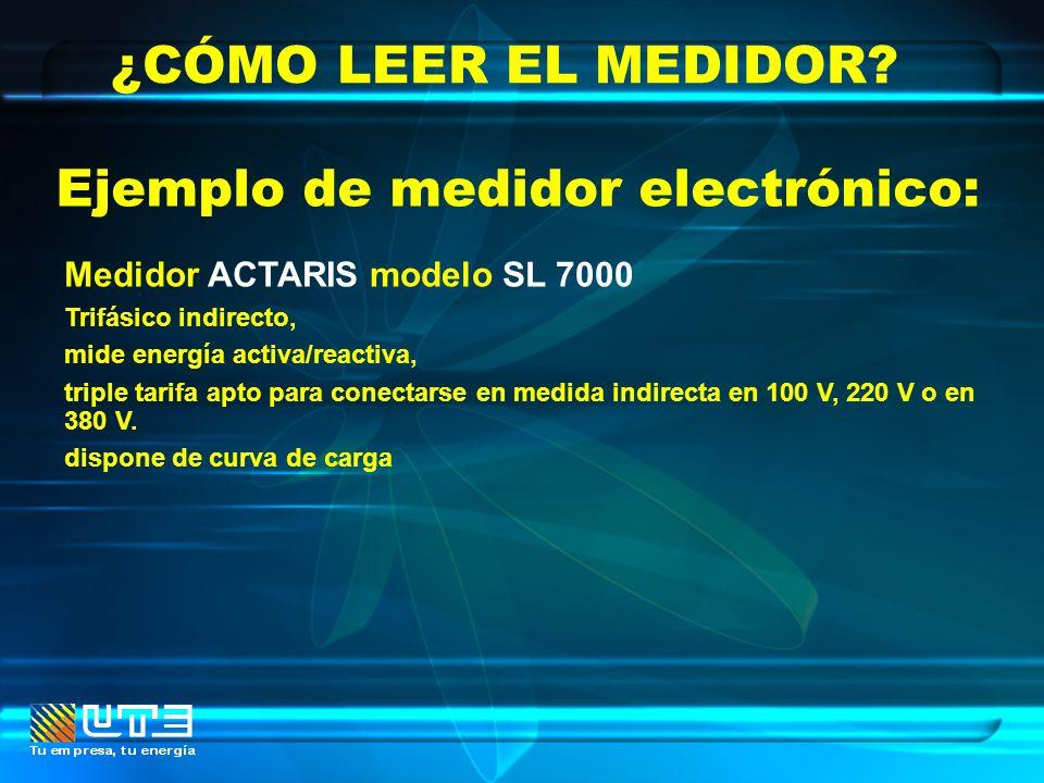 Medidor ACTARIS modelo SL 7000 Trifásico indirecto, mide energía activa/reactiva, triple tarifa apto para conectarse en medida indirecta en 100 V, 220
