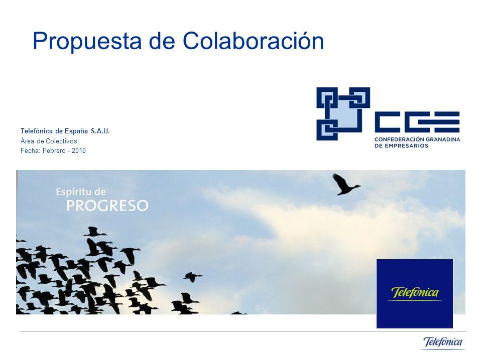 Propuesta de Colaboración Telefónica de España S.A.U. Área de Colectivos Fecha: Febrero - 2010