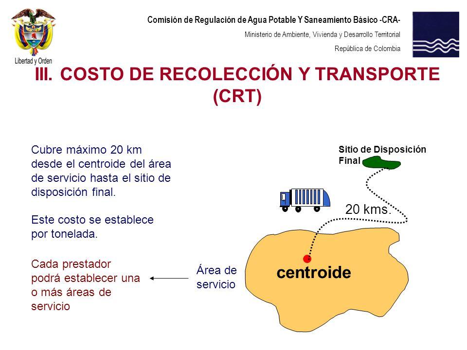 Comisión de Regulación de Agua Potable Y Saneamiento Básico -CRA- Ministerio de Ambiente, Vivienda y Desarrollo Territorial República de Colombia cent
