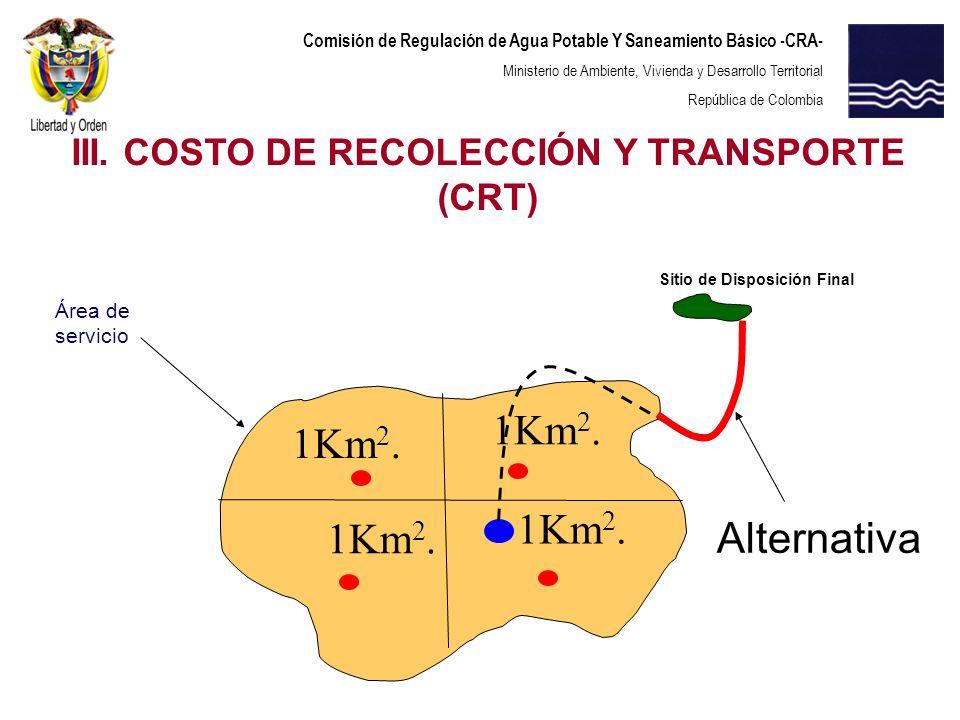 Comisión de Regulación de Agua Potable Y Saneamiento Básico -CRA- Ministerio de Ambiente, Vivienda y Desarrollo Territorial República de Colombia Siti
