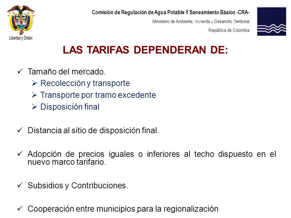 Comisión de Regulación de Agua Potable Y Saneamiento Básico -CRA- Ministerio de Ambiente, Vivienda y Desarrollo Territorial República de Colombia Tama
