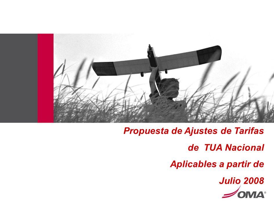 Propuesta de Ajustes de Tarifas de TUA Nacional Aplicables a partir de Julio 2008