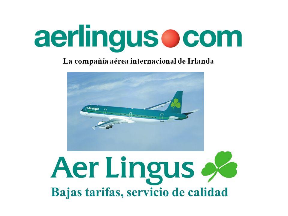 La compañía aérea internacional de Irlanda Bajas tarifas, servicio de calidad